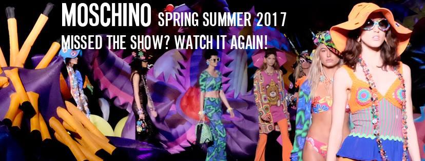 Moschino Resort 2017 Fb