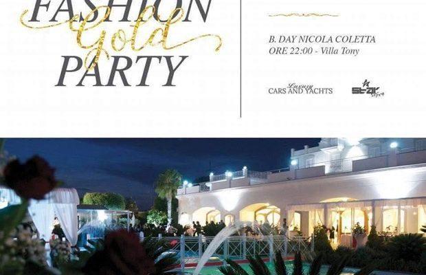 Fashion gold party, nicola coletta