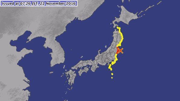 Terremoto in Giappone